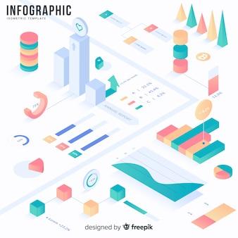 Ensemble d'éléments et outils d'infographie