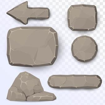 Ensemble d'éléments en pierre