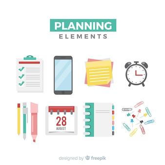 Ensemble d'éléments de planification