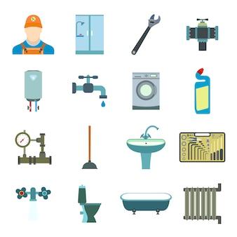 Ensemble d'éléments plats de génie sanitaire