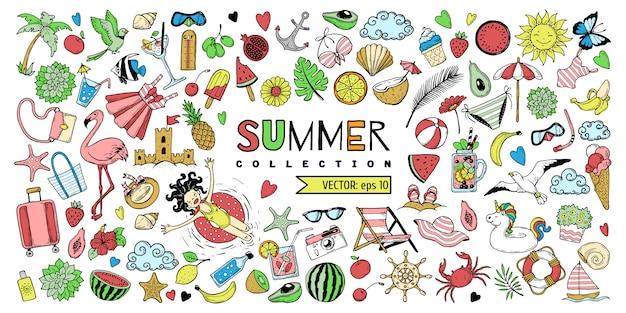 Un ensemble d'éléments pour l'été.