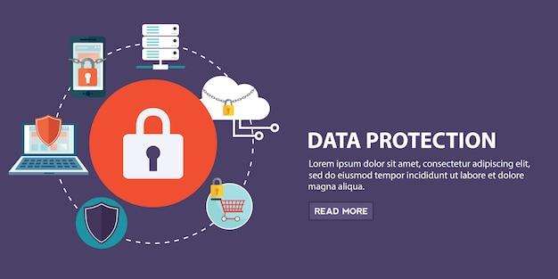Ensemble d'éléments de protection des données
