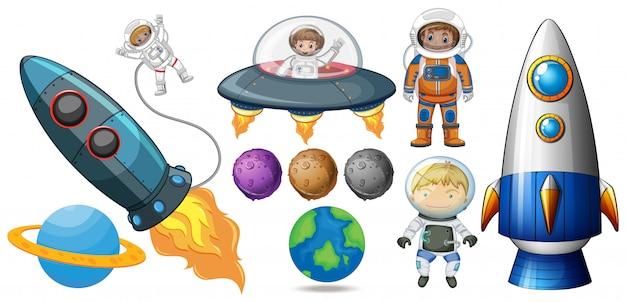 Un ensemble d'éléments spatiaux