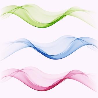 Ensemble d'éléments de vague abstraite de mélange