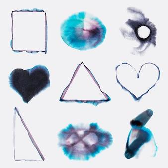 Ensemble d'éléments vectoriels art chromatographie abstraite esthétique