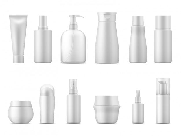 Ensemble d'emballage cosmétique réaliste