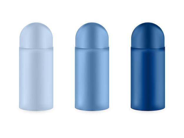 Ensemble d'emballage vide réaliste pour produit cosmétique de luxe.