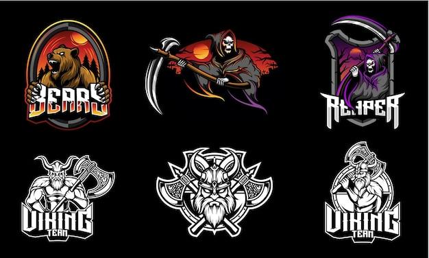 Ensemble d'emblème du logo esport