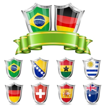 Ensemble emblème de football