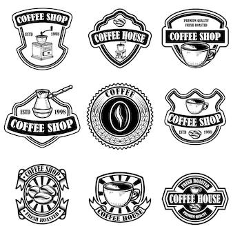 Ensemble d'emblèmes de café vintage
