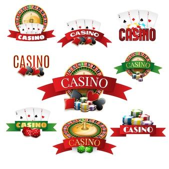 Ensemble d'emblèmes de casino