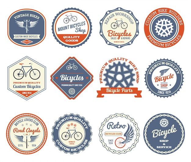 Ensemble d'emblèmes de cyclisme