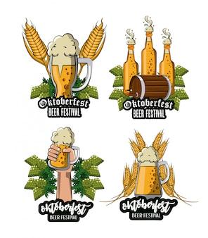Ensemble d'emblèmes du festival d'oktober