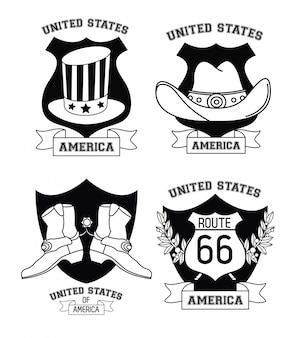 Ensemble des emblèmes des états-unis