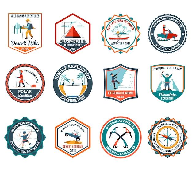 Ensemble d'emblèmes d'expédition