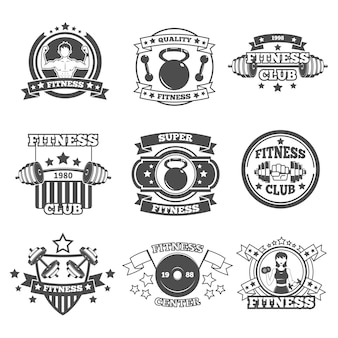 Ensemble d'emblèmes de gymnastique