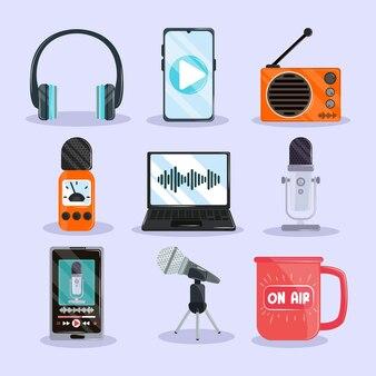 Ensemble d'émission de podcast