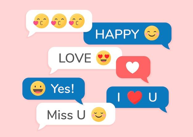 Ensemble d'emoji différent