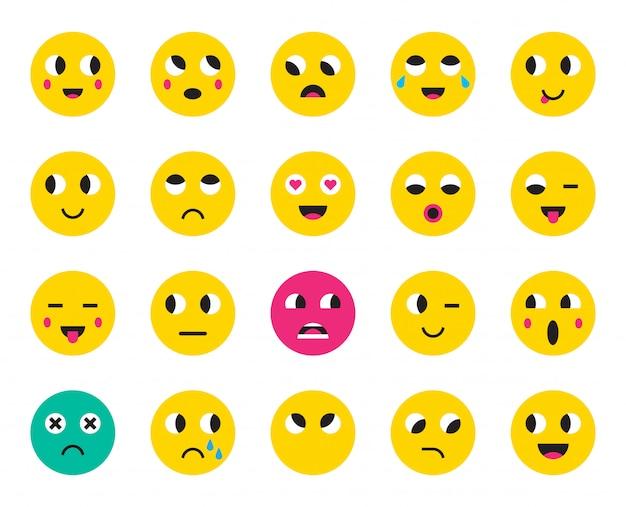 Ensemble d'émoticônes ou emoji.