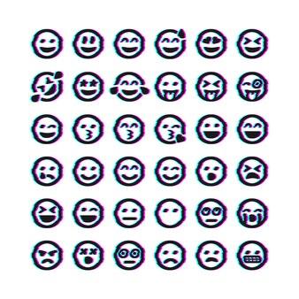 Ensemble d'émoticônes de pépin de vecteur. ensemble d'émojis. icônes de pépin de sourire isolées. illustration vectorielle eps 10