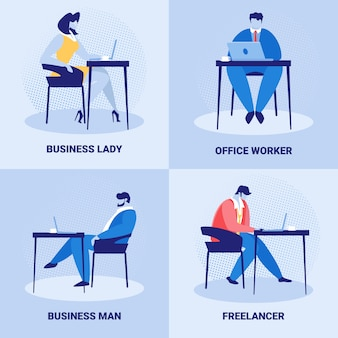 Ensemble d'employés de l'entreprise, emploi de gens d'affaires