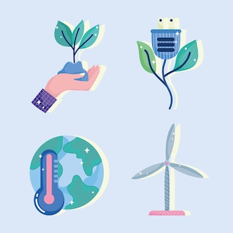 Ensemble d'énergie verte