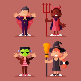 Ensemble enfant halloween design plat
