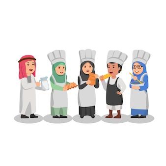 Ensemble d'enfants arabes étudiants bienvenue à l'école