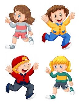 Ensemble d'enfants heureux