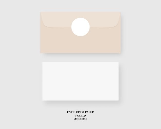 Ensemble d & # 39; enveloppe vierge et papier
