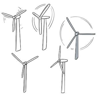 Ensemble d'éoliennes
