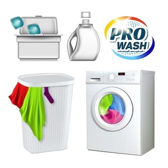 Ensemble d'équipement de lavage de linge de lavage