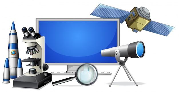 Un ensemble d'équipements de recherche scientifique
