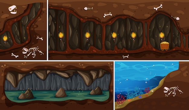 Un ensemble d'espace souterrain naturel