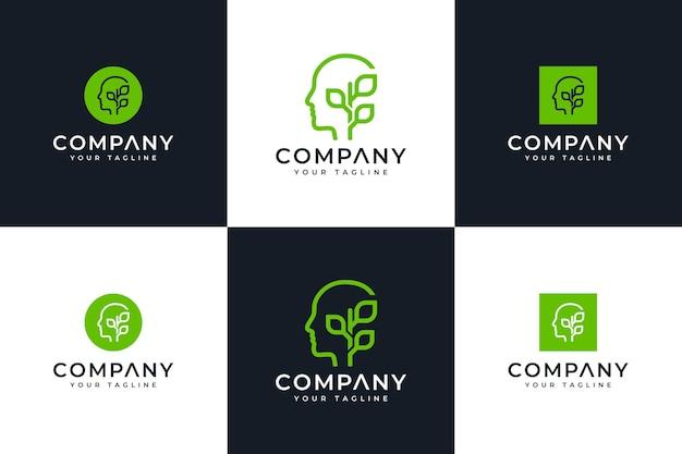 Ensemble d'esprit et laisse la conception créative du logo pour toutes les utilisations
