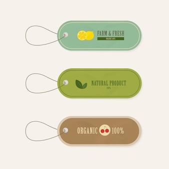 Ensemble d'étiquette étiquettes style vintage bannière naturelle.