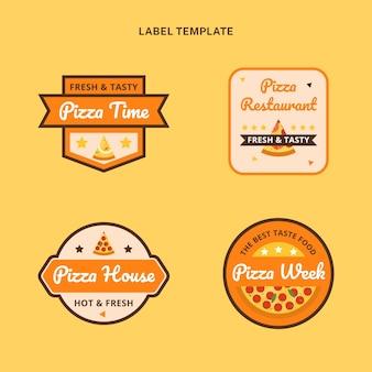 Ensemble d'étiquettes alimentaires plats