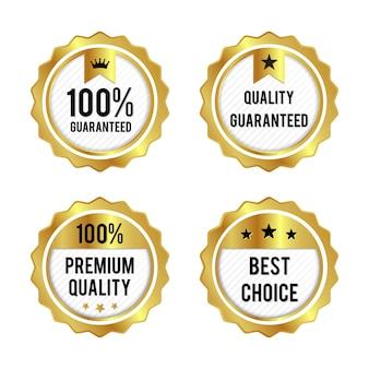Ensemble d'étiquettes dorées de qualité supérieure