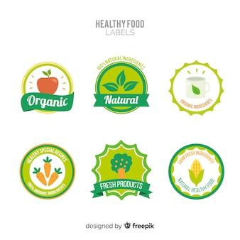 Ensemble d'étiquettes de fruits biologiques