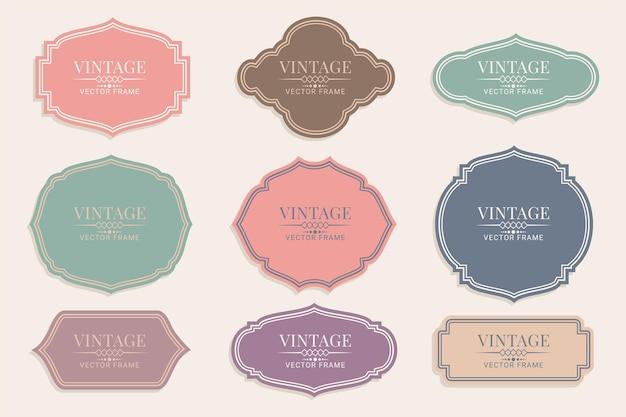 Ensemble d'étiquettes et insignes vintage rétro