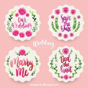 Ensemble d'étiquettes de mariage