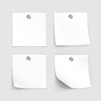 Ensemble d & # 39; étiquettes en papier autocollant pense-bête post memo