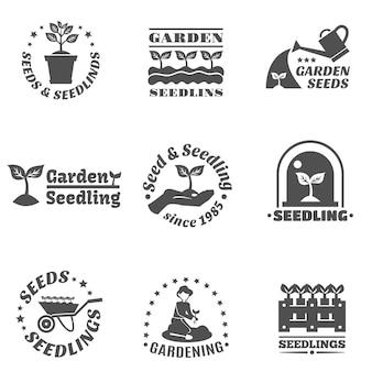 Ensemble d'étiquettes de semis