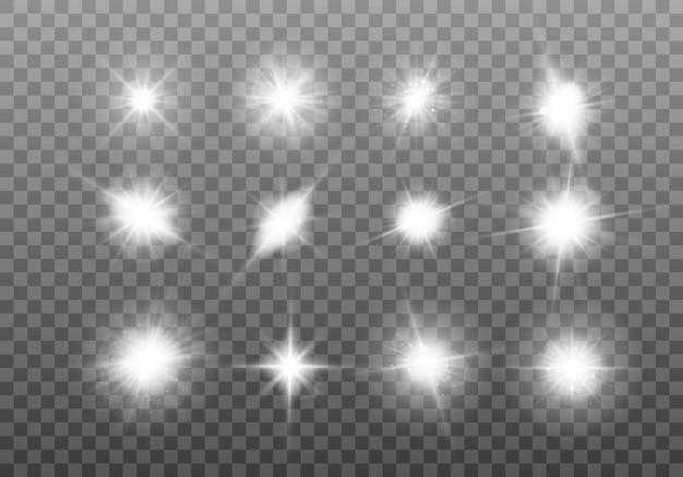 Ensemble d'étoile brillante.