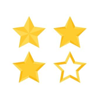 Ensemble d'étoiles d'or
