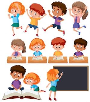 Un ensemble d'étudiants mignons