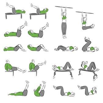 Ensemble d'exercices de musculation systématiques pour l'équipement de base