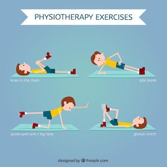 Ensemble d'exercices de physiothérapie