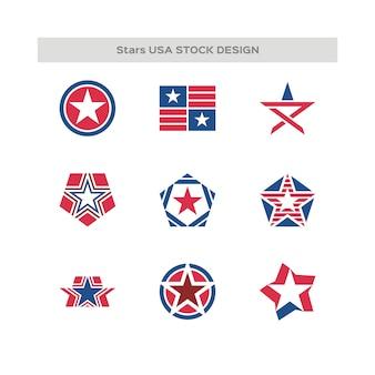 Ensemble de fait au logo des etats-unis