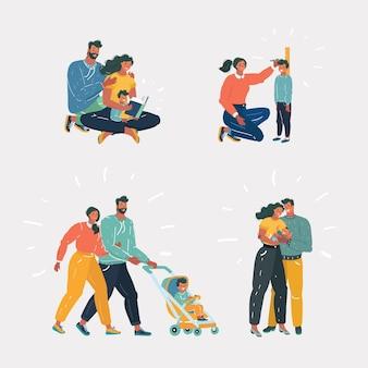 Ensemble famille et enfants